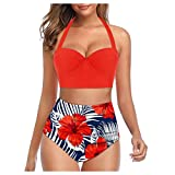 Bikinis Mujer 2020 Push Up Halter Bikini Traje de baño Acolchado Bra Tops...