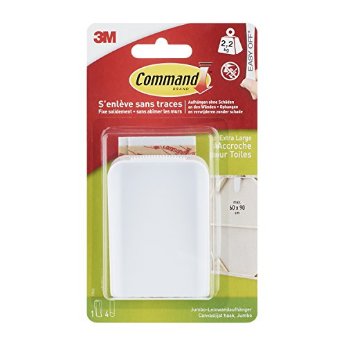 Command 17045 - Cuelga lienzo grande, color blanco