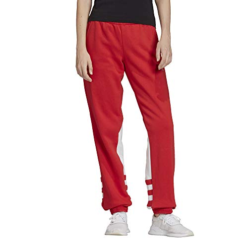 adidas Large Logo Sweat P, Pantaloni Sportivi Donna, Rosso (Lush Red/White), 44
