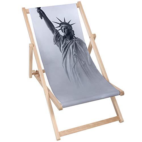 chille 5907803439240 Sedia a Sdraio, Statua della libertà 2