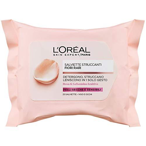 L'Oréal Paris Detergenza Fiori Rari Salviette Detergenti per la Pelle Sensibili - 100 g