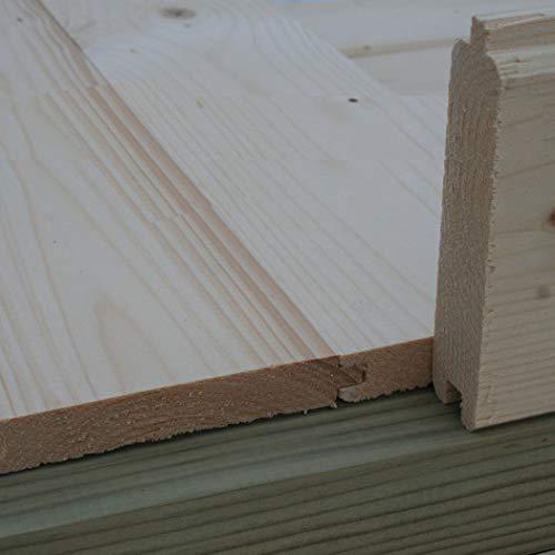 Alpholz 18 mm Holzfußboden für Gartenhäuser & Gerätehäuser | Universal Fußboden Naturbelassen (3m²)
