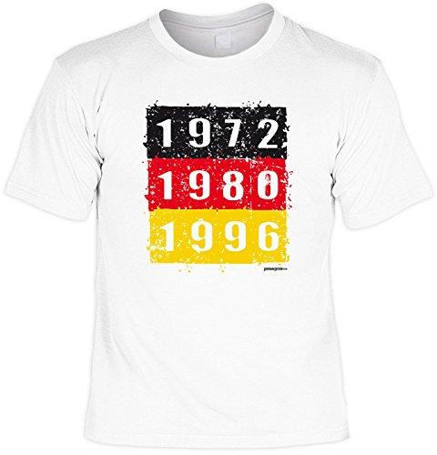 Fussball T-Shirt Deutschland WM 2018 Fan Shirt Fanshirt 1972 1980 1996 - Geburtstag Geschenk Papa Gr: 5XL