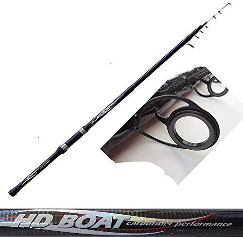 globe fishing Canna da Pesca bolentino Barca Mare mt. 2,70 orate saraghi mormore tanute gr. 80150