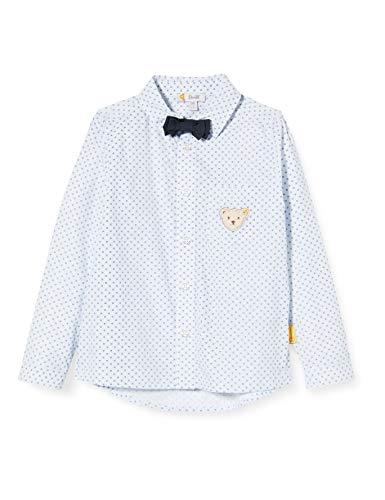 Steiff Jungen Langarm Hemd, Grau (Black IRIS 3032), (Herstellergröße:104)