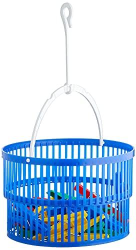 WENKO Wäscheklammer-Korb Set inkl. 30 Wäscheklammern - inkl. 30 Wäscheklammern, Polypropylen, 19 x 9 x 19 cm, Blau