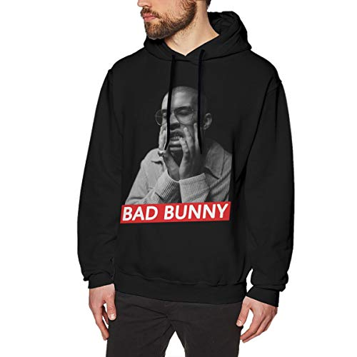 MYHL Men's Bad Bunny Graphic Fashion Sport Hip Hop Hoodie Sweatshirt Pullover Tops