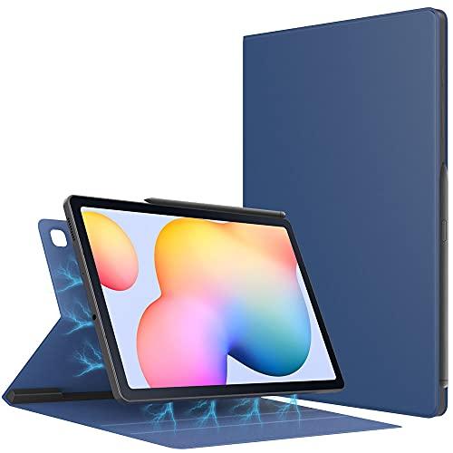 TiMOVO Funda Compatible con Samsung Galaxy Tab S6 Lite 10.4 Inch 2020 (SM-P610/P615), Estuche Protector Delgado Adsorción Magnética de Stylus Lápiz con Auto Estela/Sueño, Azul Marino