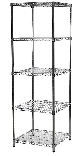 24 D X 24 W X 54 H Chrome Wire Shelving With 5 Shelves Furniture Decor