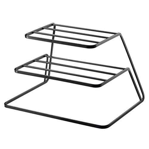 Camisin Geschirrabtropfgestell mit 2 Etagen, Stahl, Schwarz
