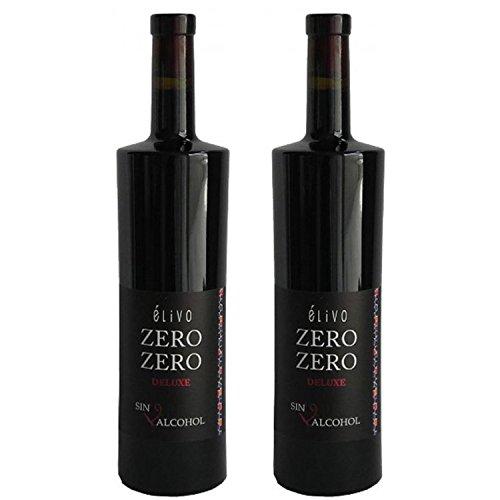 Elivo Zero Zero Deluxe Red Non-Alcoholic Red Wine 750ml (2 Bottles)