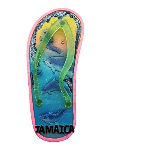 3D-Kühlschrankmagnet, Flip-Flop-Form, Jamaika-Kühlschrankmagnet, Reise-Souvenir, Geschenk, Heim-Küchendekoration, Kühlschrank-Magnet-Sticker-Kollektion