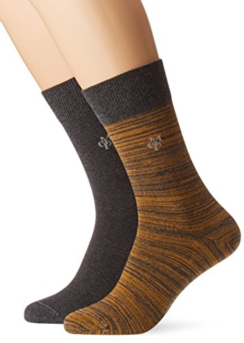 JONTE  Legwear M-Socks 2-pack Herren socken, gelb (curry 608), 43/46 (Herstellergröße: 406), 155624
