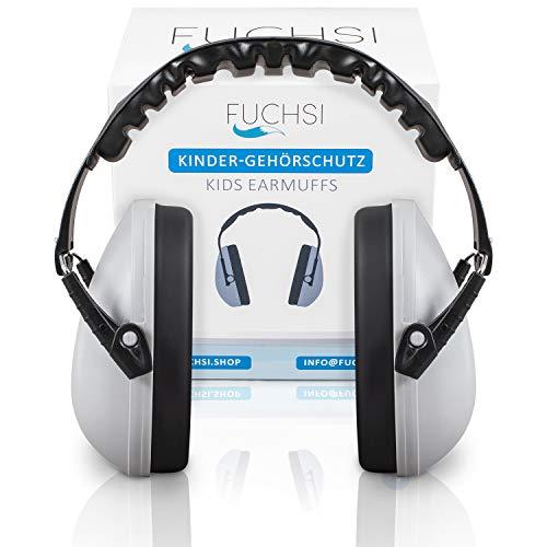 FUCHSI Kinder Gehörschutz | Ohrenschützer für Kleinkinder | Verstellbar | Ohrschutz Hörschutz Lärmschutz | gepolsteter Kopfbügel, hoher Tragekomfort, geringes Gewicht | für Kinder zwischen 3-12 Jahre