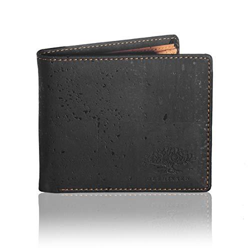 Derriksen Vegan portemonnee heren kurk - duurzame producten - portemonnee - Slim Wallet - RFID Blocker Portmonnee - portemonnee mannen zwart