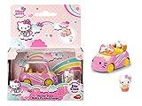Simba Voiture Bretzel Dickie Coche Pretzel de Metal, Longitud 6cm, Incluye 1 Figura extraíble de Hello Kitty, Para Niños a partir de 3 Años, color rosa 253241003