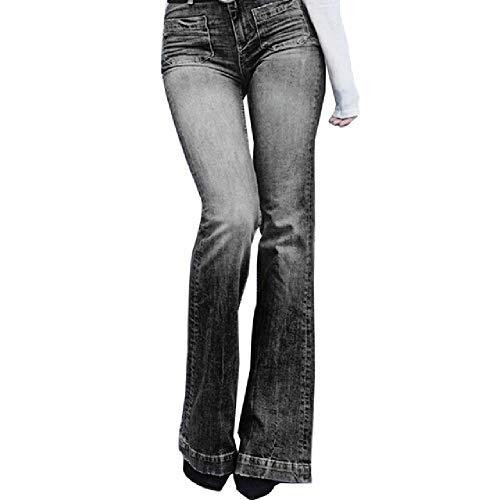 N\P Mujer Boyfriend Jeans Denim Skinny Mujer Vintage Flare Jeans