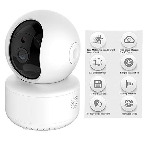 HD2DOG Wifi Beveiligingscamera voor thuis met Telefoon App, Indoor Draadloze 1080P FHD Digitale IP Camera met Bewegingsdetectie 2-Way-Audio, Alert, Nachtzicht XTM345