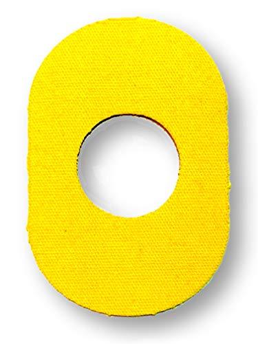FixTape atmungsaktives Sensor-Tape für Freestyle Libre 1 & 2 I selbstklebendes Patch mit Loch für Glukose-Sensor I besonders hautfreundlich und wasserfest in modernen Designs I 7 Stück (Gelb)