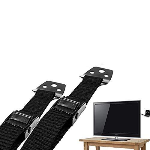 liltourist Möbel und Fernseher Kippsicherung, Extra Stabiler Universal Kippschutz - Bruchsichere Metall Befestigung mit starken Nylon Sicherungsgurten - Flachbildfernseher und TV Kindersicherung