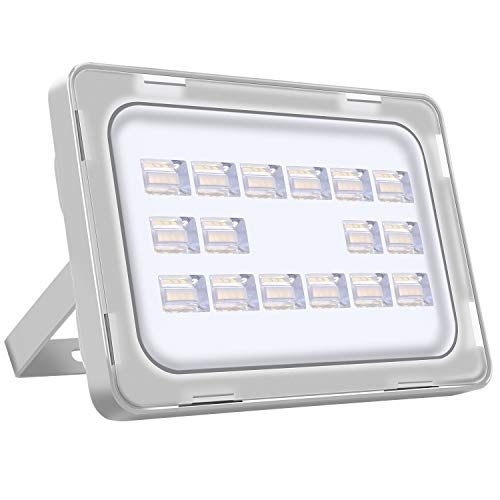 LED Strahler Außen 50W LED Beleuchtung 3500LM LED Lampe Scheinwerfer 5000K-6500K Kaltweiß IP65 Wasserdicht LED Strahler Außen für Hof Garten, Garage, Werbetafeln, Stadien, Plätze, Fabriken