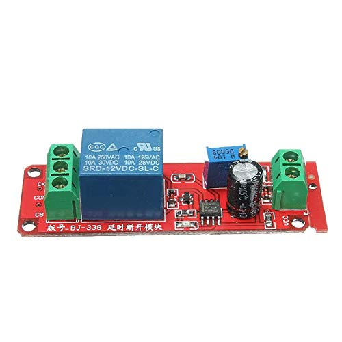 KEKEYANG Oscillator Delay Timer Switch Module Adjustable 0-10 Second 10Pcs 12V NE555 Wood Shaving Tools Controller Board