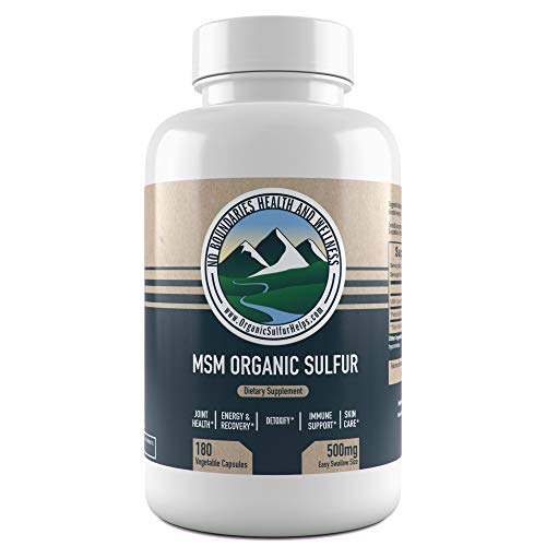 PREMIUM MSM ORGANIC SULFUR CAPSULES (VEGETABLE): Our No Boundaries Health and Wellness MSM Organic Sulfur Capsules are easy to swallow and use an all-natural vegetable capsule that contains 500mg 99.9% pure MSM (methysulfonylmethane) sulfur powder, o...