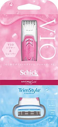 シック Schick ハイドロシルク トリムスタイル ホルダー 女性用 カミソリ (替刃1コ本体に装着済み)