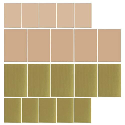 Kupferblech,20pcs Kupfer Plattiertes Pcb, Diy Doppelseitiges Kupfer Plattiert Und Einzelne Seiten-Laminat Pwb-Leiterplatte Für Industrielles, Lötmittel, Wartung Usw.