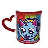 Gravy-Cat-Man Merch, tazza da tè e caffè, termosensibile, con motivo a tazza di caffè