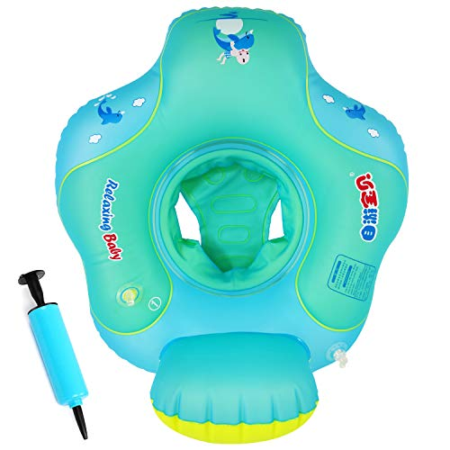 Baby Swimming Floats Ring with Safety Seat Upgrade Airbag Anti-Flip Inflatable Swimming Ring for Babies Swim Rings Floats for Pool Swim Training Aid Kids Pool Floats for Toddlers of 5-72 Months - S