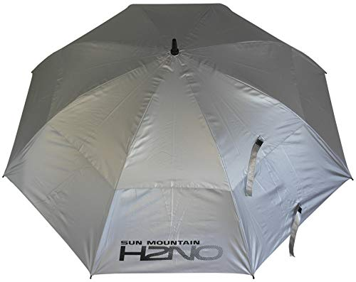 Sun Mountain Unisex H2NO Doppel-Schirm, 152,9 cm, silberfarben