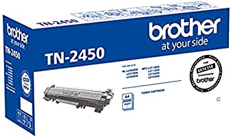 Brother Genuine TN2450 High-Yield Toner Cartridge, Black, Page Yield Up to 3000 Pages, (TN-2450) for use with:...