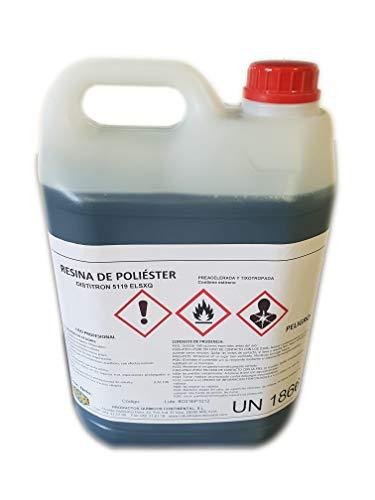 Riegoprofesional Resina de Poliester 5kg para reparación, impermeabilizante, Tuning | no Incluye catalizador