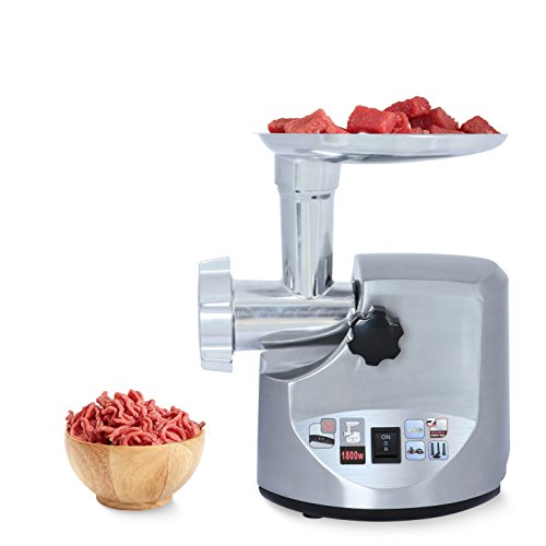 Brentwood Select MG-1800S Stainless Steel Electric Meat Grinder & Sausage Stuffer