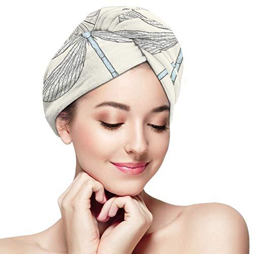 N/A Dessiné à la main Style ancien royal de style ancien feuilles et figurines ornées de tête enveloppements pour femme Bonnet de douche anti-rizz absorbant torsion serviette de douche chapeau