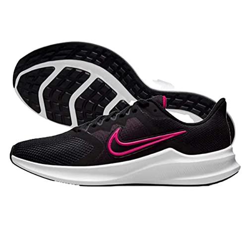 Nike Wmns Downshifter 11, Zapatillas para Correr Mujer, Black Fireberry Dk Smoke Grey White, 37.5 EU