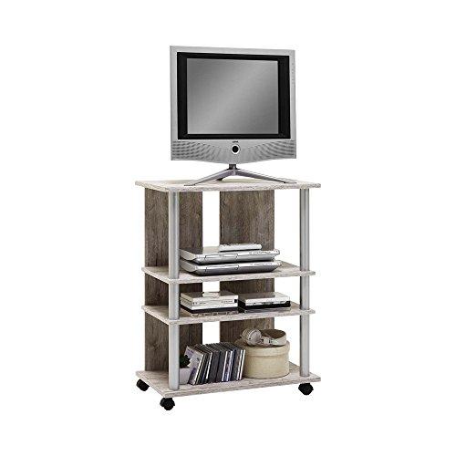 FMD Möbel 205-007 Variant 7 TV/Hifi-Regal, Holz, sandeiche, 65 x 40 x 85 cm