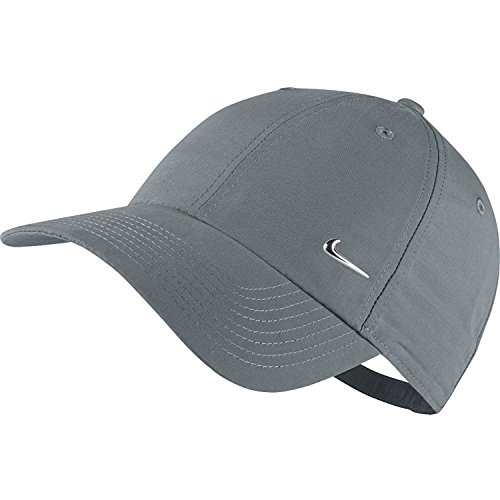 Nike Métal Swoosh Logo Casquette Mixte Adulte, Cool Grey/Metallic Silver, FR Fabricant : Taille...