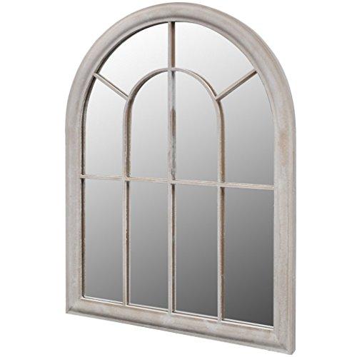 Anself Gartenspiegel 69 x 3 x 89 cm für den Innen- und Außenbereich Weiß