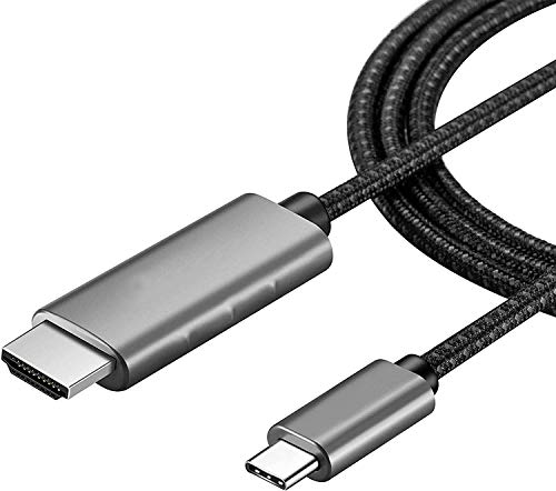 USB C to HDMI Cable,[4K@60Hz ]USB Type- C to HDMI Cable [Thunderbolt 3] Compatible with Mac Pro, Mac, Pad Pro 2018,Dell XPS and More,6ft/1.8m