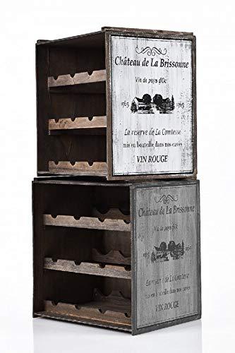 Fair-Shopping Weinregal Flaschenregal Weinschrank Küchenregal 2 x