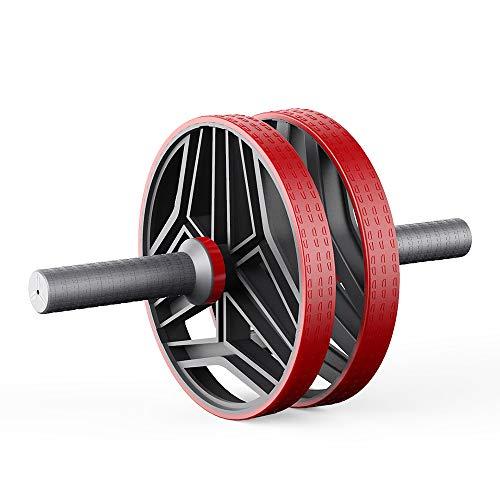 ELAULA Ruedas de ejercicio para abdominales de la rueda abdominal, aparato de entrenamiento muscular, fitness, gimnasio, equipo de ejercicio en casa, rodillo de prensa sin ruido (color: beige)