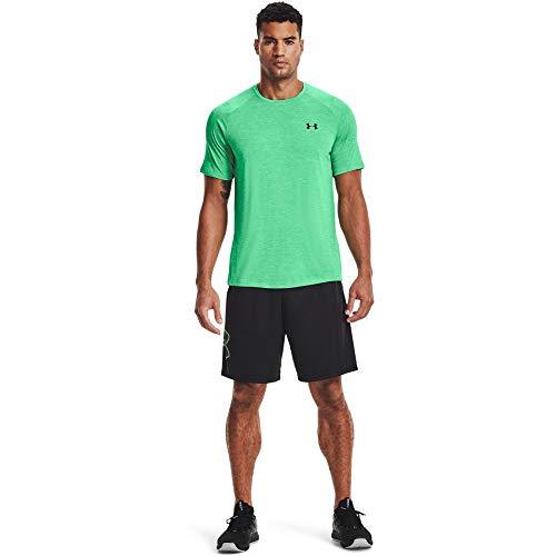 Under Armour Tech 2.0 - Camiseta de Manga Corta para Hombre, Tech 2.0 - Camiseta de Manga Corta, Hombre, Color Verde Mate (342)/Negro, tamaño Large