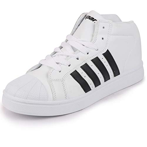 Sparx Men White Black Leather Sneakers-8 UK (42 EU) (SD0607G_WHBK0008)