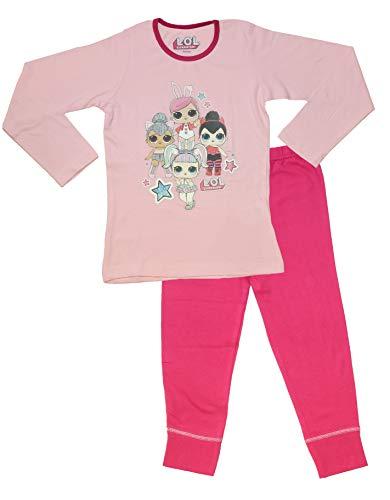 L.O.L Surprise Dolls Pijama para niñas Soft Cotton PJs Pijamas Confetti Pop Pjs Lil Sisters (9-10 años, 4 Personajes Rosa Claro)