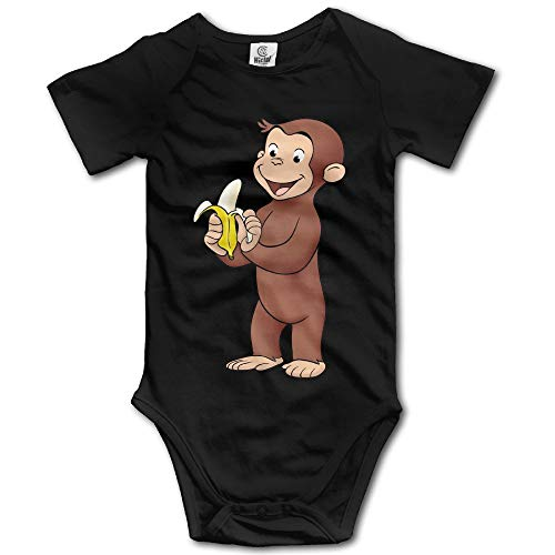 Newborn Clothes Curious George Eat Banana Vintage Funny Onesies 18M