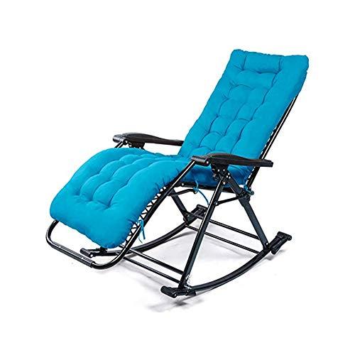 GFE Klapp Schaukelstuhl, tragbare Schwerelosigkeit Stuhl, Sessel, für Büro Camping Beach Patio Pool Yard Outdoor,#5