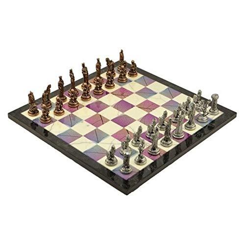 U/D Conjunto de Metal ajedrez Conjunto Medio Trojan Sparta Antiguo Piedra Piedra Modelo Deteseboard Calidad Regalo Custom Hecho de Lujo