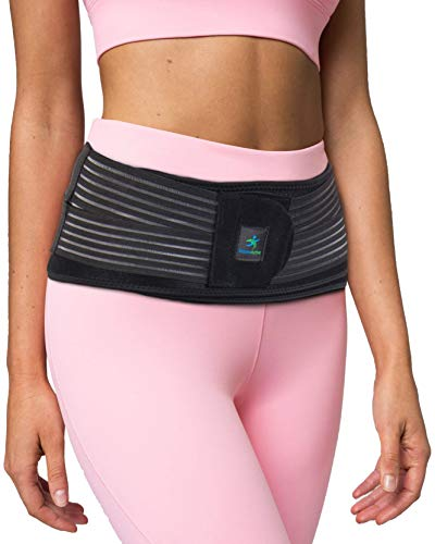 BoosterActive Sacroiliac Support Belt for Women and Men - SI Joint Brace for Pelvic Support and Pain Relief with Anti-Slip